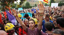 """Konflikt um Katalonien: Brok fürchtet """"bürgerkriegsähnliche"""" Lage"""