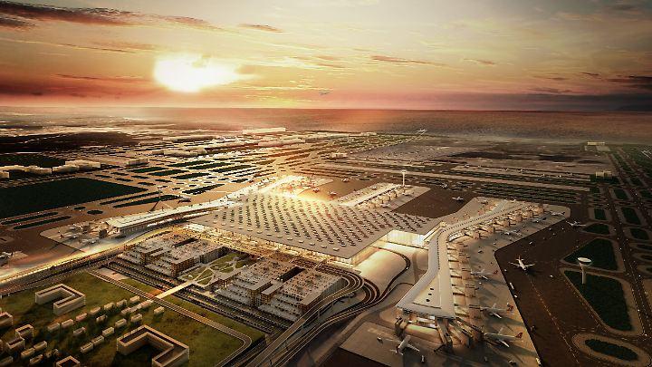 Der Flughafen in Istanbul soll einer der weltweit größten werden.