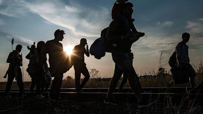 Höchstens 200.000 Flüchtlinge netto sollen nach dem Willen der Union jährlich von Deutschland aufgenommen werden.