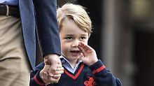 """Einmal Prinz George knuddeln: Polizei verwarnt """"liebesverrückte"""" Frau"""