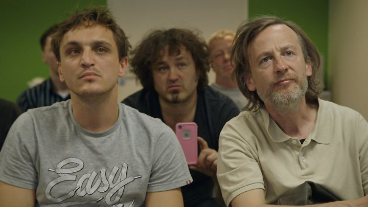 Lernbegierig: Thorben und Rocky beim Seminar.