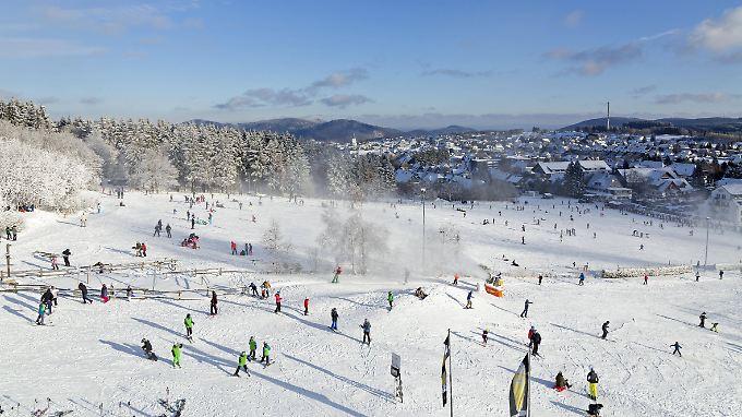 Piste im Skigebiet Winterberg (Sauerland).