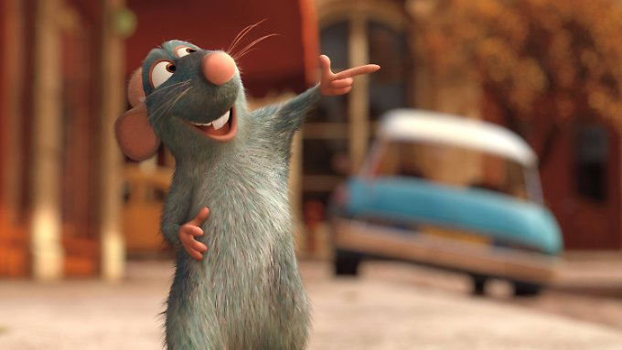 """Im Animationsfilm """"Ratatouille"""" von 2007 ist die Stadtratte ein Gourmet. Stadtmäuse hingegen lieben Fast Food."""