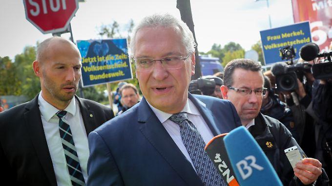 Joachim Herrmann will in der neuen Regierung einen Ministerposten.