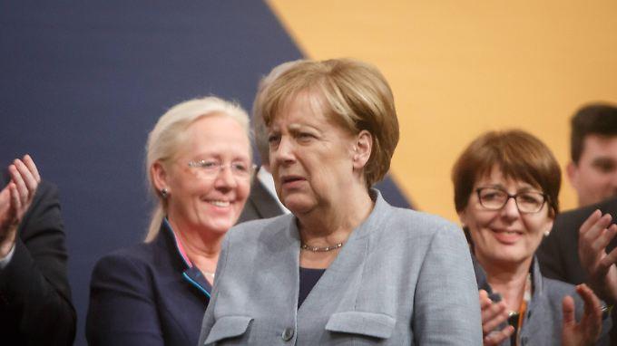 Angela Merkel bei einem Wahlkampftermin in Osnabrück.