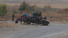 Irakische Einheiten rücken von Südwesten her auf Kirkuk vor.