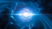 Eine Kilonova: zwei Neutronensterne verschmelzen und explodieren. Astronomen konnten jetzt ein solches Ereignis beobachten. Gravitationswellen brachten sie auf die Spur.