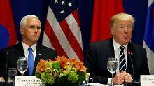 """""""Er will sie alle hängen"""": Trump witzelt über Pences Homophobie"""