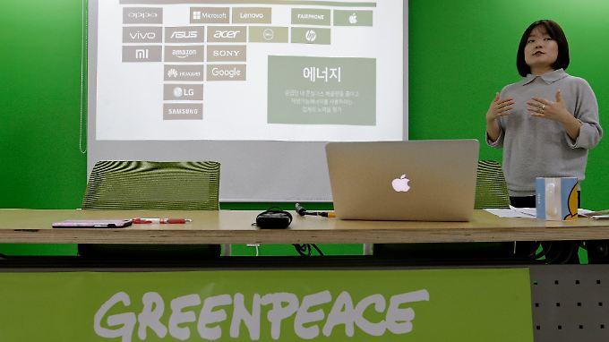 Greenpeace veröffentlicht jährlich ein Ranking verschiedener Elektronikgeräte.