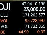 Siebtes Rekordhoch in Folge: Dow Jones bleibt auf Höhenflug