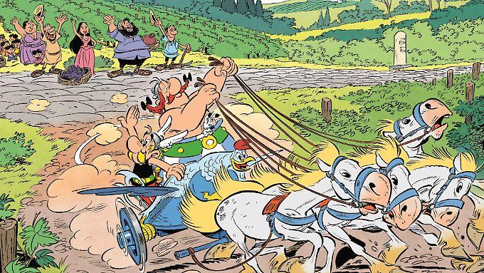Asterix und Obelix reisen in Band 37 nach Italien - und treffen viele neue Menschen.