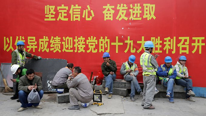 Gerade Chinas Baubranche profitiert von staatlichen Krediten.