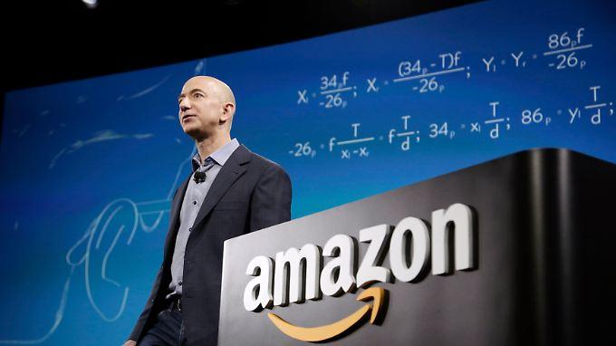 Amazon-Chef Bezos hält knapp 17 Prozent der Anteile an seinem Unternehmen. Das reicht, um ihn zum reichsten Mann der Welt zu machen.