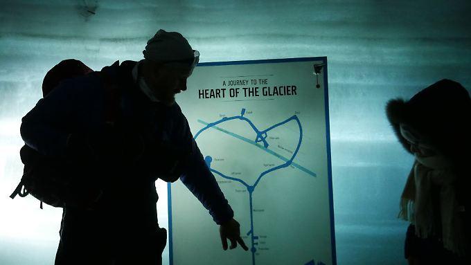 """Karte für die """"Into the Glacier""""-Tour."""