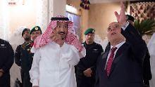 Saudi-Arabiens König Salman und der irakische Ministerpräsident Haidar al-Abadi wollen künftig enger zusammenarbeiten.