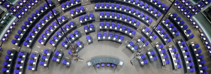 Morgen werden die Plätze gefüllt: Der neue Bundestag kommt zusammen.