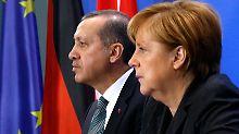 Gespräche zwischen Angela Merkel und Recep Tayyip Erdogan sind in der Regel schwierig.
