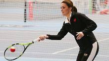 Sporty Spice trotz Baby-Bauch: Herzogin Kate in Topform