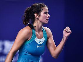 Julia Görges hat ihre Form ins neue Jahr mitgenommen.