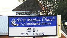 Die Gläubigen hatten sich zum Gottestdienst in der Baptistenkirche versammelt, als gegen 11.30 Uhr ein schwarz vermummter Mann das Feuer auf das Gebäude eröffnete.