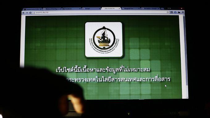Die meisten Netzblockaden gab es im vergangenen Jahr in Asien, wie hier im Bild in Thailand.