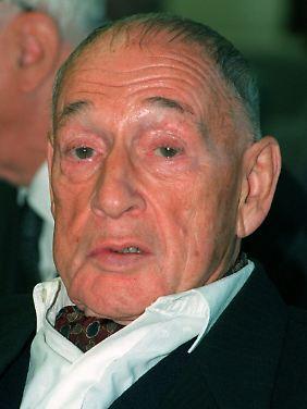 Klaus Gysi (Archivbild von 1996). Er starb 1999 im Alter von 87 Jahren.