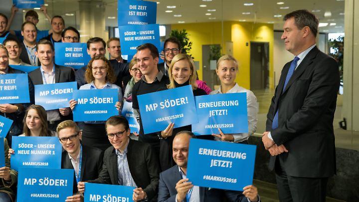 Söder besuchte die Junge Union in Erlangen.