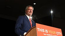 """""""Botschaft an das Weiße Haus"""": New York wählt erneut De Blasio"""