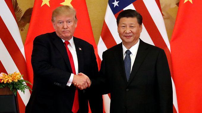 Donald Trump und Xi Jinping in Peking.