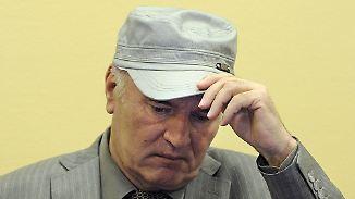 Ratko Mladic vor dem UN-Kriegsverbrechertribunal.