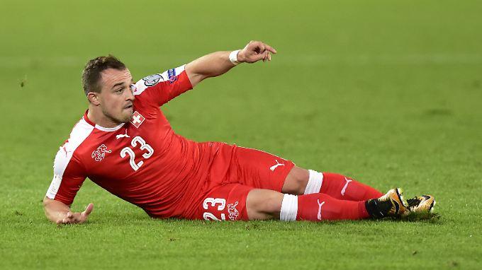"""Der ehemalige Bayern-Profi Xherdan Shaqiri kämpft mit der Schweizer """"Nati"""" gegen Nordirland um ein WM-Ticket."""
