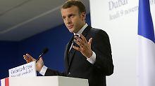 Besorgt wegen Libanon und Jemen: Macron besucht kurzfristig Kronprinz