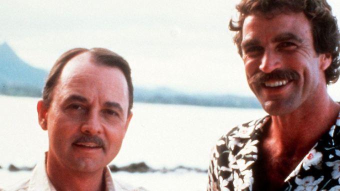 John Hillerman (li.) und Tom Selleck