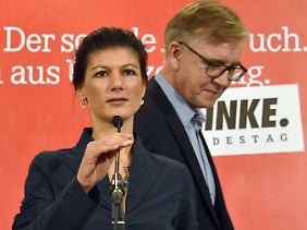 Gespanntes Verhältnis zur Parteispitze: Sahra Wagenknecht und Dietmar Bartsch.