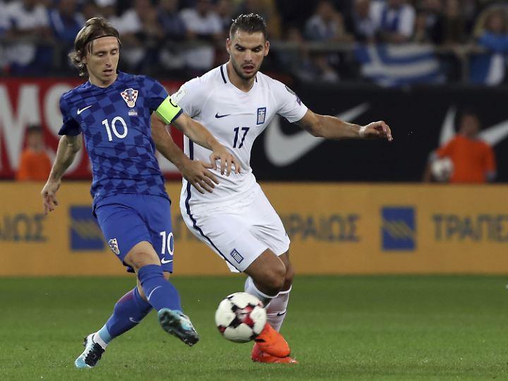 Kroatiens Modric (l.) bärenstark.