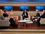 Wills Gäste, von links nach rechts: Heike-Melba Fendel, Ursula Schele, Verona Pooth, Laura Himmelreich und Gerhart Baum