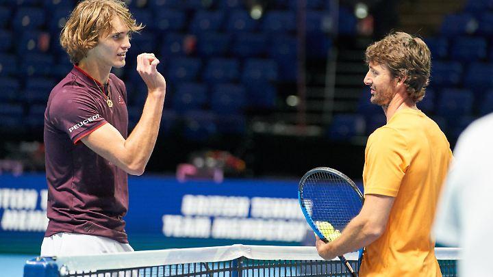 Alexander Zverev versteht sich bestens mit seinem Trainer Juan Carlos Ferrero.