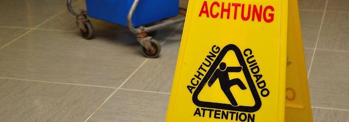 Eine Gefahrenstelle muss  ausreichend abgesichert sein.