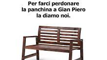 Eine Bank für Gian Piero: Ikea macht Italienern Versöhnungsangebot