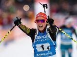 Die Königin des Biathlon: Laura Dahlmeier.