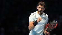 Nach Sieg gegen Goffin: Bulgare Dimitrow ist Tennis-Weltmeister