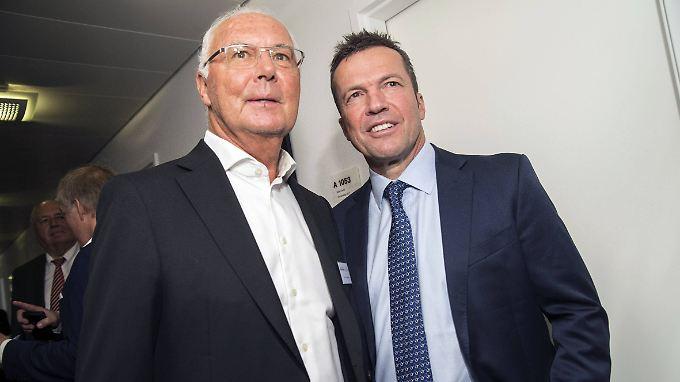 Franz Beckenbauer und Lothar Matthäus - Helden mit menschlichen Schattenseiten.