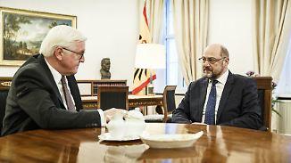 Schulz trifft Steinmeier: Schulz' GroKo-Veto bröckelt
