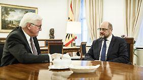 Schulz trifft Steinmeier: Favorisiert die SPD eine Minderheitsregierung?