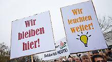 Demonstration in Augsburg.