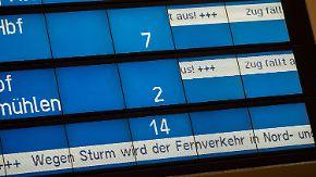 Sturmschäden und viele Baustellen: Bahn kassiert Pünktlichkeitsziel für 2017