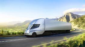 """Zehn """"Semi"""" für die USA: Deutsche Post DHL bestellt E-Trucks bei Tesla"""