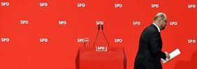 Erste inhaltliche Bedingungen: Schulz: Kein Automatismus für GroKo