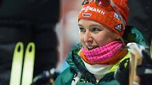 Das Lächeln der Siegerin: Denise Herrmann.
