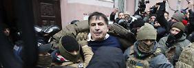 Auf Dach Selbstmord angedroht: Polizei nimmt Ex-Präsident Saakaschwili fest